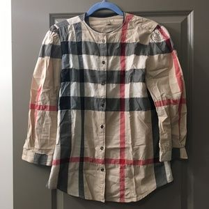Burberry Brit Puff Sleeve Blouse